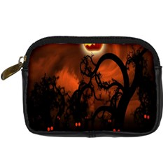 Halloween Pumpkins Tree Night Black Eye Jungle Moon Digital Camera Cases by Alisyart