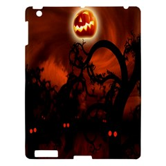 Halloween Pumpkins Tree Night Black Eye Jungle Moon Apple Ipad 3/4 Hardshell Case by Alisyart