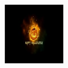 Happy Halloween Pumpkins Face Smile Face Ghost Night Medium Glasses Cloth (2 Side) by Alisyart