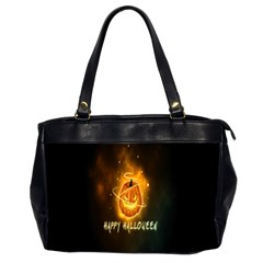Happy Halloween Pumpkins Face Smile Face Ghost Night Office Handbags (2 Sides)  by Alisyart