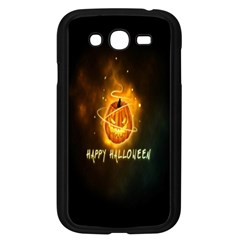 Happy Halloween Pumpkins Face Smile Face Ghost Night Samsung Galaxy Grand Duos I9082 Case (black) by Alisyart