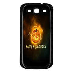 Happy Halloween Pumpkins Face Smile Face Ghost Night Samsung Galaxy S3 Back Case (black) by Alisyart