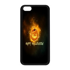 Happy Halloween Pumpkins Face Smile Face Ghost Night Apple Iphone 5c Seamless Case (black) by Alisyart