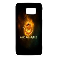Happy Halloween Pumpkins Face Smile Face Ghost Night Galaxy S6 by Alisyart