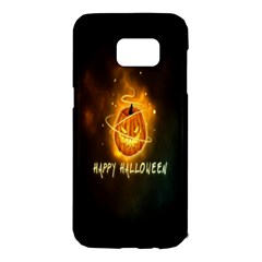 Happy Halloween Pumpkins Face Smile Face Ghost Night Samsung Galaxy S7 Edge Hardshell Case by Alisyart