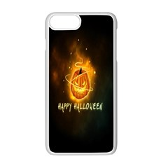 Happy Halloween Pumpkins Face Smile Face Ghost Night Apple Iphone 7 Plus Seamless Case (white) by Alisyart