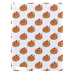 Face Mask Ghost Halloween Pumpkin Pattern Apple Ipad 3/4 Hardshell Case by Alisyart