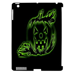 Pumpkin Black Halloween Neon Green Face Mask Smile Apple Ipad 3/4 Hardshell Case (compatible With Smart Cover) by Alisyart
