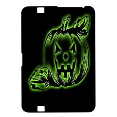 Pumpkin Black Halloween Neon Green Face Mask Smile Kindle Fire Hd 8 9  by Alisyart
