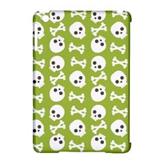 Skull Bone Mask Face White Green Apple Ipad Mini Hardshell Case (compatible With Smart Cover) by Alisyart