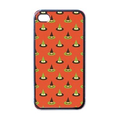 Hat Wicked Witch Ghost Halloween Red Green Black Apple Iphone 4 Case (black) by Alisyart