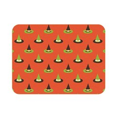 Hat Wicked Witch Ghost Halloween Red Green Black Double Sided Flano Blanket (mini)  by Alisyart