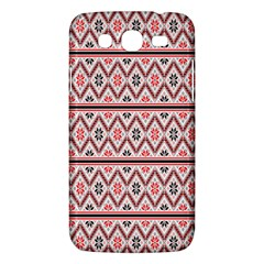 Red Flower Star Patterned Samsung Galaxy Mega 5 8 I9152 Hardshell Case  by Alisyart