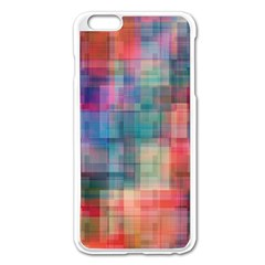 Rainbow Prism Plaid  Apple Iphone 6 Plus/6s Plus Enamel White Case by KirstenStar