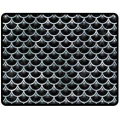 Scales3 Black Marble & Ice Crystals (r) Fleece Blanket (medium)  by trendistuff