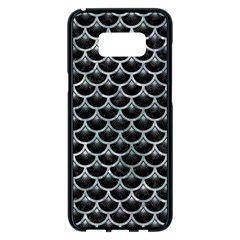 Scales3 Black Marble & Ice Crystals (r) Samsung Galaxy S8 Plus Black Seamless Case by trendistuff