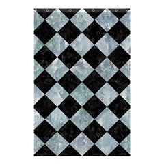 Square2 Black Marble & Ice Crystals Shower Curtain 48  X 72  (small)  by trendistuff
