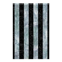 Stripes1 Black Marble & Ice Crystals Shower Curtain 48  X 72  (small)  by trendistuff