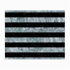 Stripes2 Black Marble & Ice Crystals Small Glasses Cloth by trendistuff