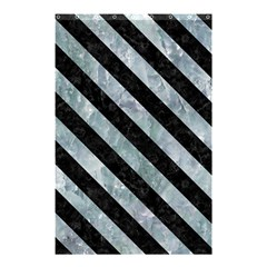 Stripes3 Black Marble & Ice Crystals Shower Curtain 48  X 72  (small)  by trendistuff