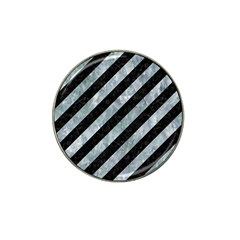 Stripes3 Black Marble & Ice Crystals (r) Hat Clip Ball Marker (10 Pack) by trendistuff