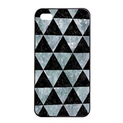 Triangle3 Black Marble & Ice Crystals Apple Iphone 4/4s Seamless Case (black) by trendistuff