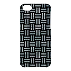 Woven1 Black Marble & Ice Crystals (r) Apple Iphone 5c Hardshell Case by trendistuff