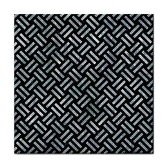 Woven2 Black Marble & Ice Crystals (r) Tile Coasters by trendistuff
