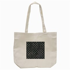 Woven2 Black Marble & Ice Crystals (r) Tote Bag (cream) by trendistuff