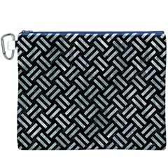 Woven2 Black Marble & Ice Crystals (r) Canvas Cosmetic Bag (xxxl) by trendistuff