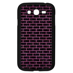 Brick1 Black Marble & Pink Brushed Metal (r) Samsung Galaxy Grand Duos I9082 Case (black) by trendistuff