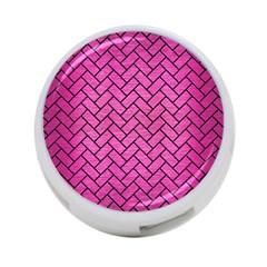 Brick2 Black Marble & Pink Brushed Metal 4 Port Usb Hub (two Sides)  by trendistuff