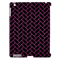 Brick2 Black Marble & Pink Brushed Metal (r) Apple Ipad 3/4 Hardshell Case (compatible With Smart Cover) by trendistuff