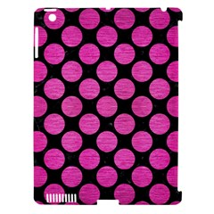 Circles2 Black Marble & Pink Brushed Metal (r) Apple Ipad 3/4 Hardshell Case (compatible With Smart Cover) by trendistuff