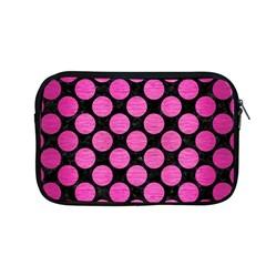 Circles2 Black Marble & Pink Brushed Metal (r) Apple Macbook Pro 13  Zipper Case by trendistuff