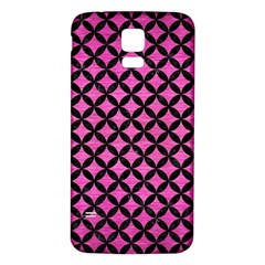 Circles3 Black Marble & Pink Brushed Metal Samsung Galaxy S5 Back Case (white) by trendistuff
