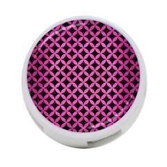 Circles3 Black Marble & Pink Brushed Metal (r) 4 Port Usb Hub (two Sides)  by trendistuff