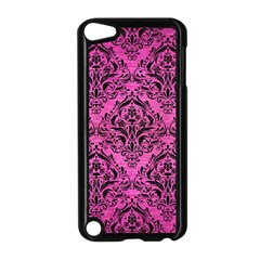 Damask1 Black Marble & Pink Brushed Metal Apple Ipod Touch 5 Case (black) by trendistuff
