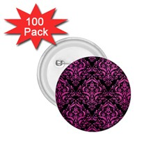 Damask1 Black Marble & Pink Brushed Metal (r) 1 75  Buttons (100 Pack)  by trendistuff