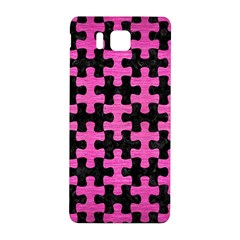 Puzzle1 Black Marble & Pink Brushed Metal Samsung Galaxy Alpha Hardshell Back Case by trendistuff
