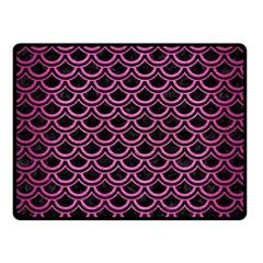 Scales2 Black Marble & Pink Brushed Metal (r) Fleece Blanket (small) by trendistuff