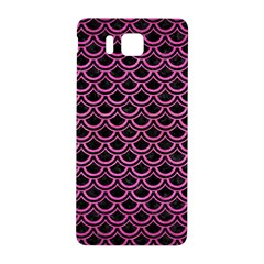 Scales2 Black Marble & Pink Brushed Metal (r) Samsung Galaxy Alpha Hardshell Back Case by trendistuff