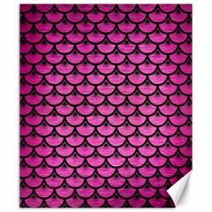 Scales3 Black Marble & Pink Brushed Metal Canvas 20  X 24   by trendistuff