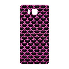 Scales3 Black Marble & Pink Brushed Metal (r) Samsung Galaxy Alpha Hardshell Back Case by trendistuff