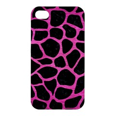 Skin1 Black Marble & Pink Brushed Metal Apple Iphone 4/4s Premium Hardshell Case by trendistuff