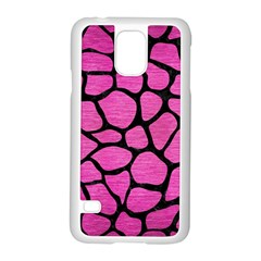 Skin1 Black Marble & Pink Brushed Metal (r) Samsung Galaxy S5 Case (white) by trendistuff