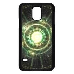 Green Chaos Clock, Steampunk Alchemy Fractal Mandala Samsung Galaxy S5 Case (black) by beautifulfractals
