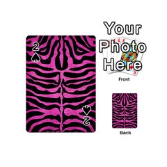 Skin2 Black Marble & Pink Brushed Metal (r) Playing Cards 54 (mini)  by trendistuff