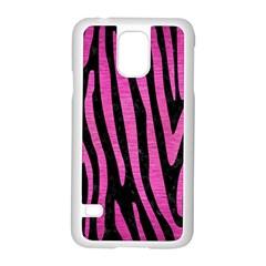 Skin4 Black Marble & Pink Brushed Metal Samsung Galaxy S5 Case (white) by trendistuff