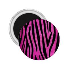 Skin4 Black Marble & Pink Brushed Metal (r) 2 25  Magnets by trendistuff